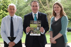 Launching the guide: Guy Shorrock RSPB, Paul Wheelhouse & Lucy Webster,SASA.   © G. Shorrock
