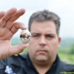 Dean Kingham, PWCO Thames Valley, with raptor egg