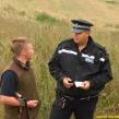 Gamekeeper being visited in Thames Valley