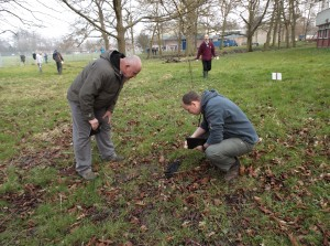 Lancashire Wildlife Crime Officers examining a dead bird during a training scenario on poisons